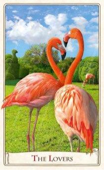 """Tarotkaart """"De Geliefden"""" (uit het tarotdeck """"Alice in Wonderland"""")"""