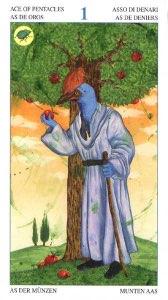 Tarotkaart 'Aas van Pentagrammen'