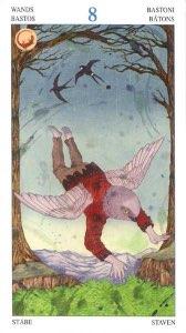 Tarotkaart 'Acht van Staven'