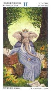 Tarotkaart 'De Hogepriesteres'