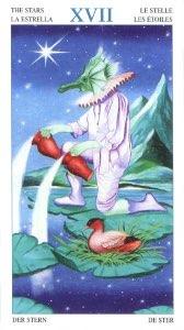"""Tarotkaart """"De Ster"""" (uit het tarotdeck """"Heren der Beesten"""")"""