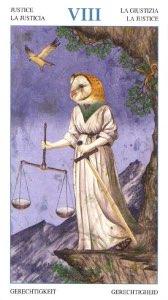 Tarotkaart 'Gerechtigheid'