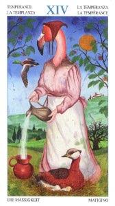 Tarotkaart 'Matigheid'