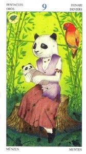 Tarotkaart 'Negen van Pentagrammen'