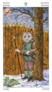 Tarotkaart 'Negen van Staven'