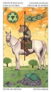 Tarotkaart 'Ridder van Pentagrammen'