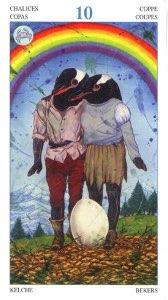 Tarotkaart 'Tien van Kelken'