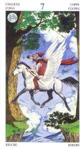 Tarotkaart 'Zeven van Kelken'