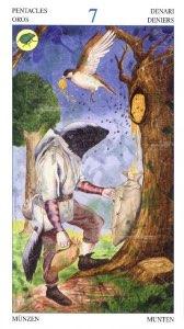 Tarotkaart 'Zeven van Pentagrammen'