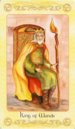 Tarotkaart 'Koning van Staven'