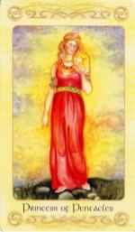 Tarotkaart 'Schildknaap van Pentagrammen'