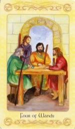 Tarotkaart 'Vier van Staven'