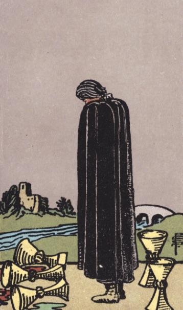 """Tarotkaart """"Vijf van Kelken"""""""