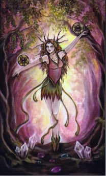 Tarotkaart 'Twee van Pentagrammen'