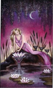 Tarotkaart 'Vier van Kelken'