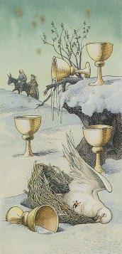 Tarotkaart 'Vijf van Kelken'