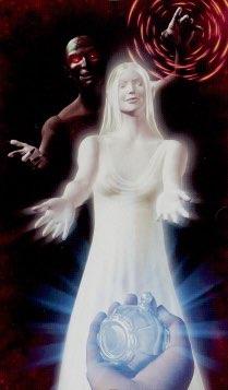 """Tarotkaart """"De Duivel"""" (uit het tarotdeck """"Elves"""")"""