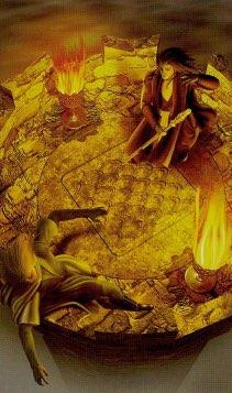 """Tarotkaart """"Gerechtigheid"""" (uit het tarotdeck """"Elves"""")"""