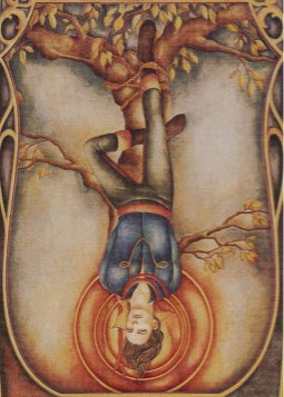 Tarotkaart 'De Gehangene'