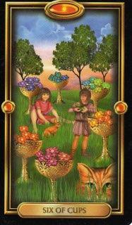 Tarotkaart 'Zes van Kelken'