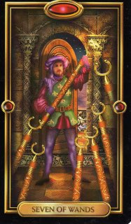 Tarotkaart 'Zeven van Staven'