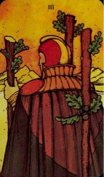 Tarotkaart 'Drie van Staven'
