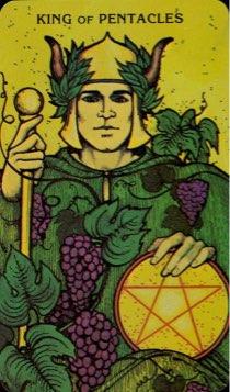 Tarotkaart 'Koning van Pentagrammen'