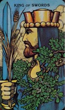 Tarotkaart 'Koning van Zwaarden'