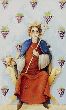 Tarotkaart 'Koning van Kelken'