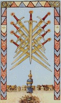 Tarotkaart 'Negen van Zwaarden'
