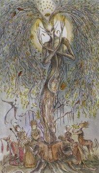Tarotkaart 'De Hierofant'