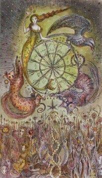Tarotkaart 'Het Rad van Fortuin'
