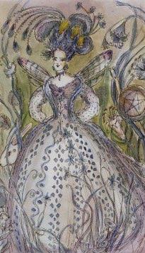 Tarotkaart 'Koningin van Pentagrammen'