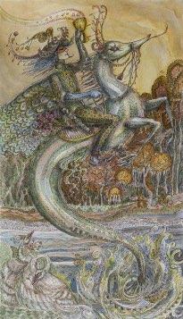 Tarotkaart 'Ridder van Kelken'
