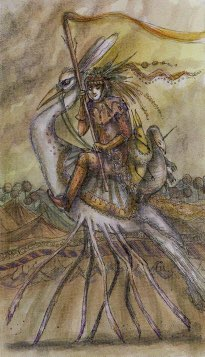 Tarotkaart 'Ridder van Staven'
