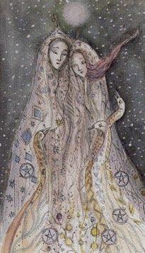 Tarotkaart 'Vijf van Pentagrammen'