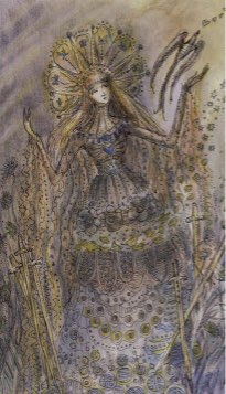 Tarotkaart 'Zes van Zwaarden'