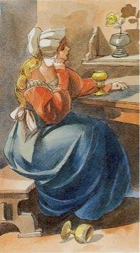 Tarotkaart 'Drie van Kelken'