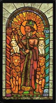 Tarotkaart 'Koningin van Staven'