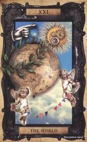 Tarotkaart 'De Wereld'