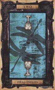 Tarotkaart 'Twee van Kelken'