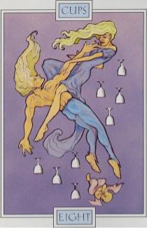 Tarotkaart 'Acht van Kelken'