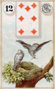 Lenormand kaart 'De Vogels'